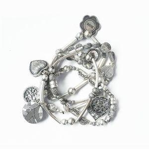 Lia Sophia Menagerie Layered Charm Bracelet